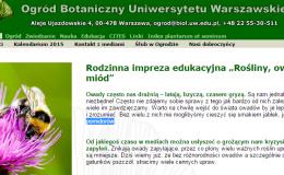Zielona przygoda – w Ogrodzie Botanicznym UW!