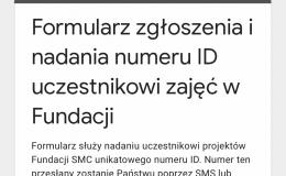 Nadanie numeru ID uczestnika